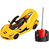 Saffire Remote Controlled Super Car with Opening Doors and Dicky, Yellow