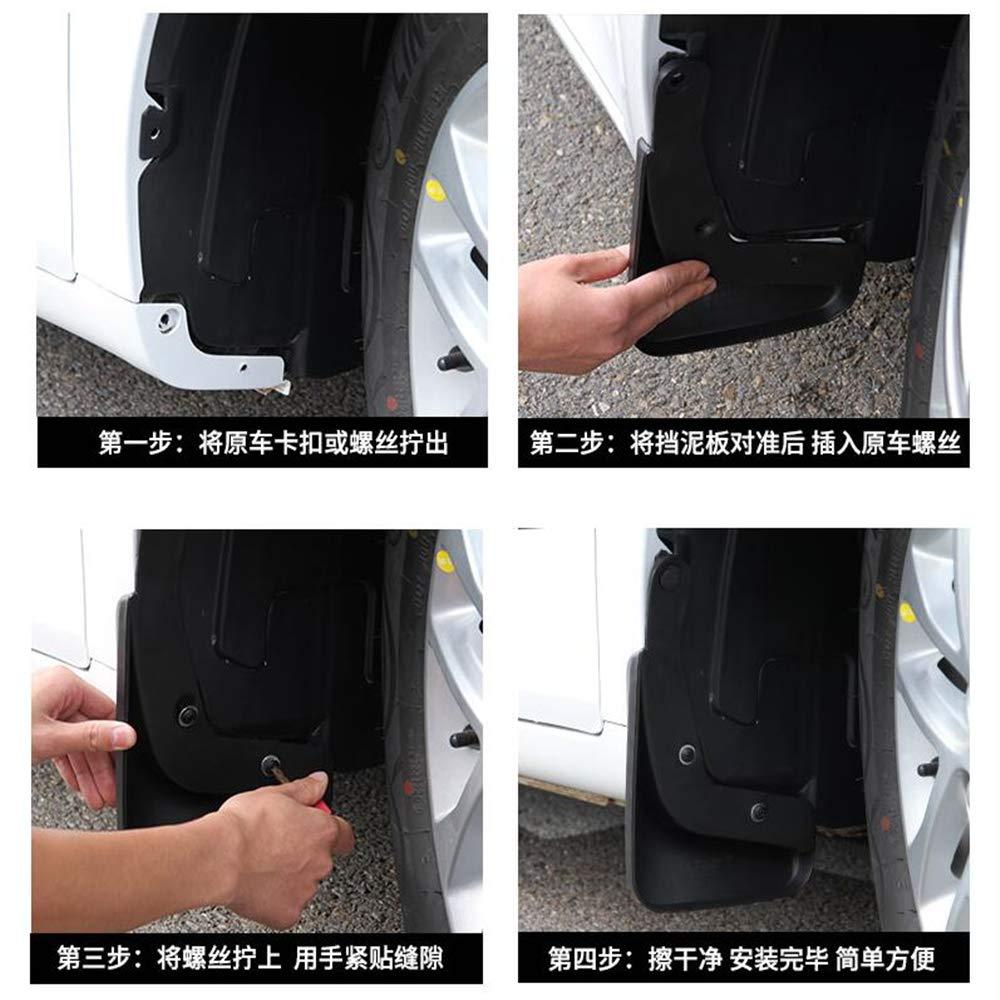 per Nissan X-Trail T31 2008-2013 2009 2010 2011 2012 LUOERPI Parafanghi Auto paraspruzzi Xtrail paraspruzzi parafango paraspruzzi parafango