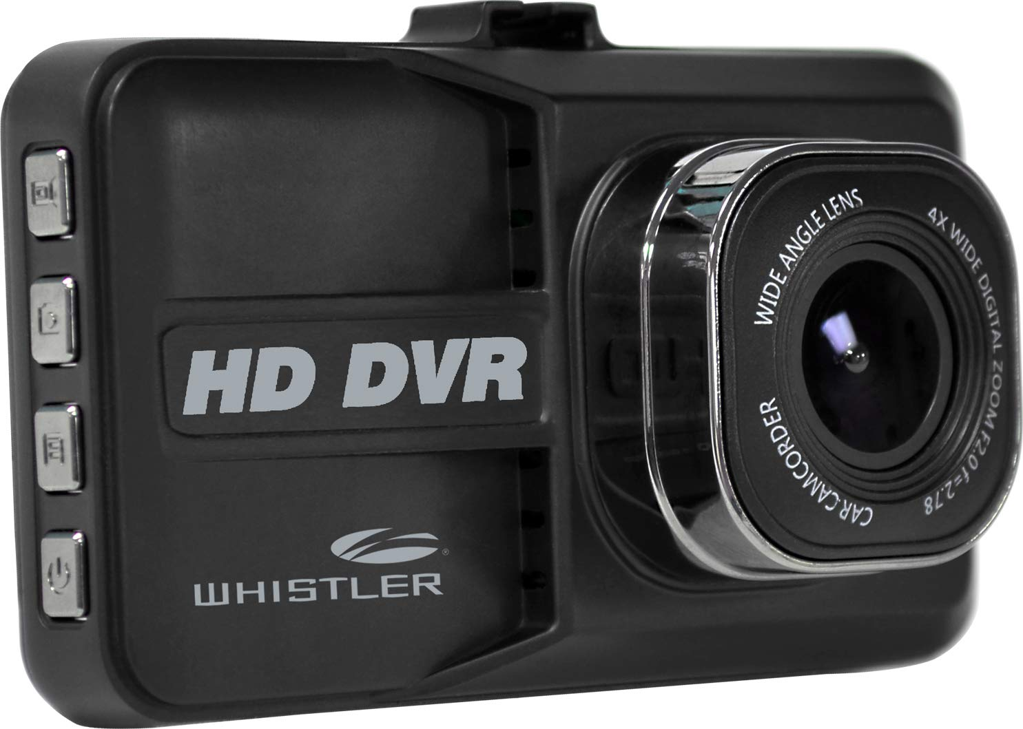 Whistler D14VR Automotive DVR Windshield Mount Dash Camera with LCD Monitor, 1080p HD, 3''