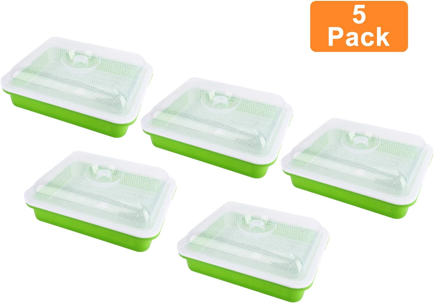 Homend Seed Sprouter Tray with Lid, Seed Germination Tray BPA Free Nursery Tray for Seedling Planting Great for Garden Home Office (5)