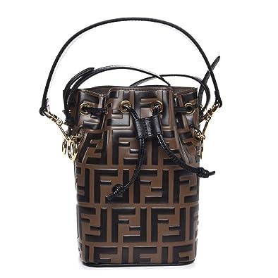 23c04476a66f Amazon.com  Fendi Mon Tresor Brown Leather Mini Bag  Shoes