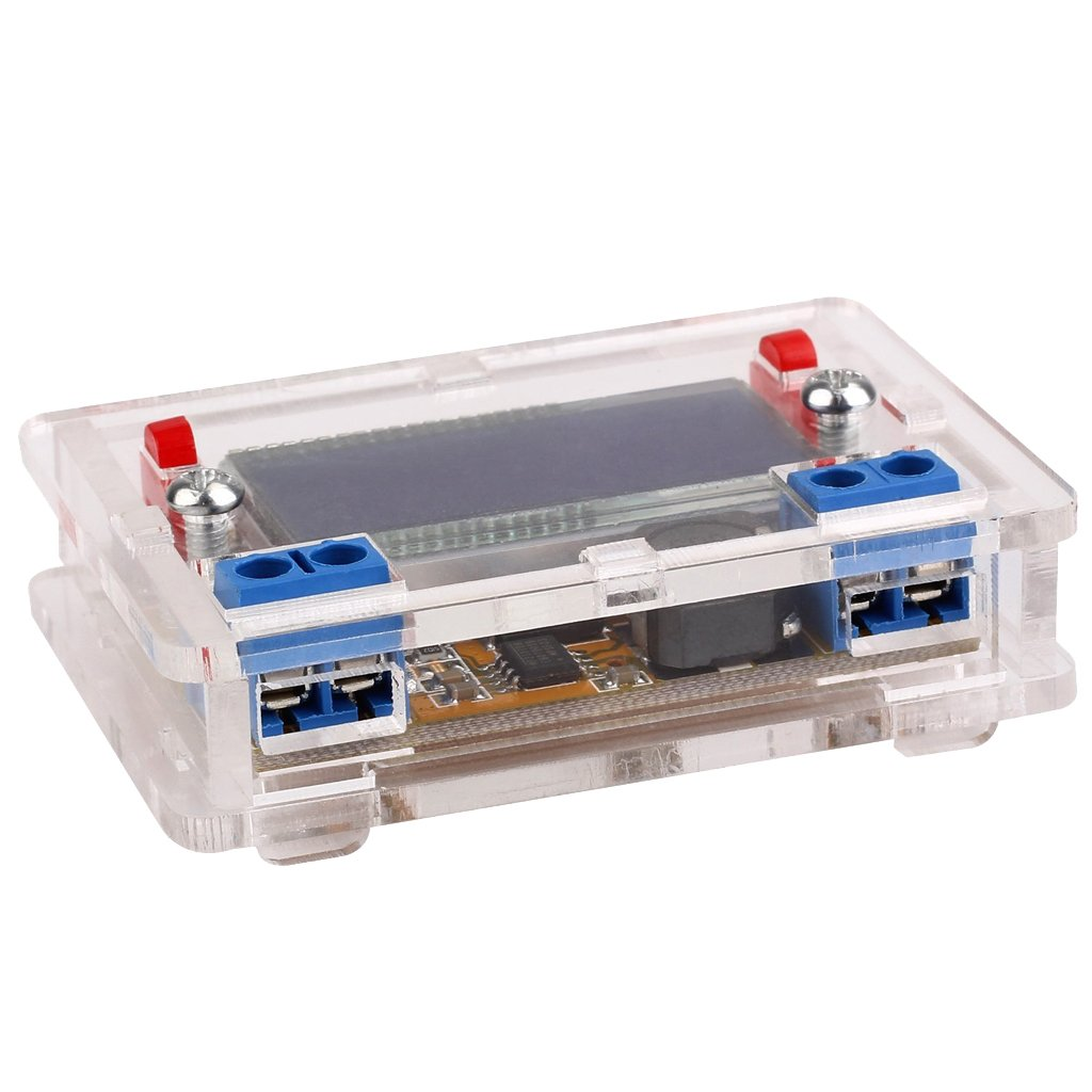Jili Online 1 Piece Mini DC-DC Adjustable Step-Down Power Supply Module with LCD Display 3A