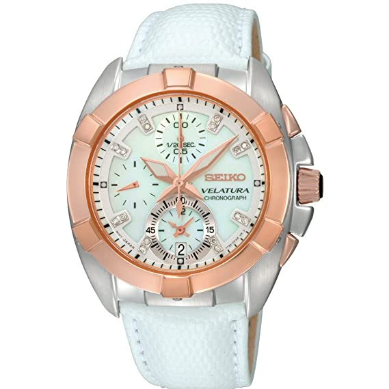 Seiko SNDY66P1 - Reloj con Correa de Cuero para Mujer, Color Blanco/Gris: Seiko: Amazon.es: Relojes