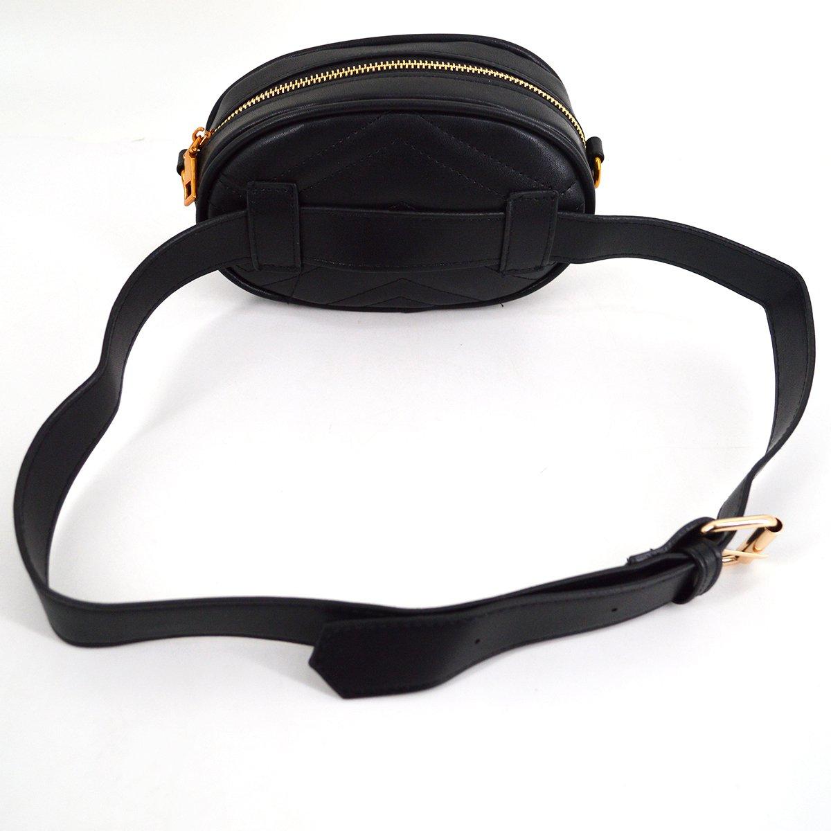 Mily Fashion Women Elegant PU Leather Waist Bag Love Shape Pattern Embroidery Cross Body Bag Fanny Packs by Mily (Image #5)
