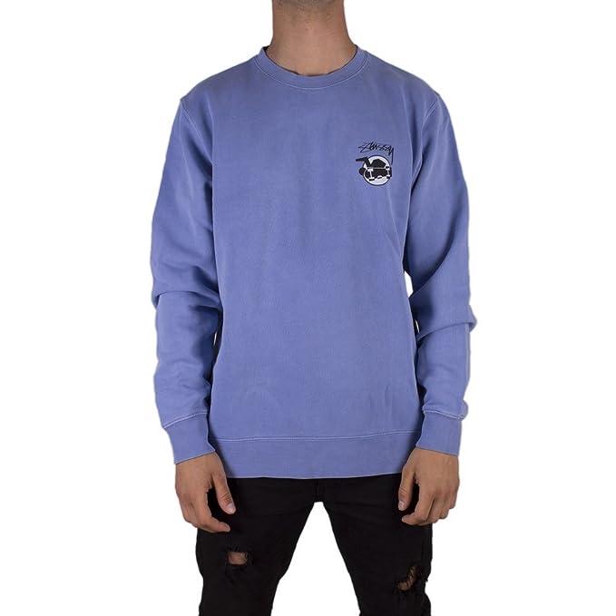 Stussy Skateman Pig. Dyed Sudadera Hombre Azul M (Medium)