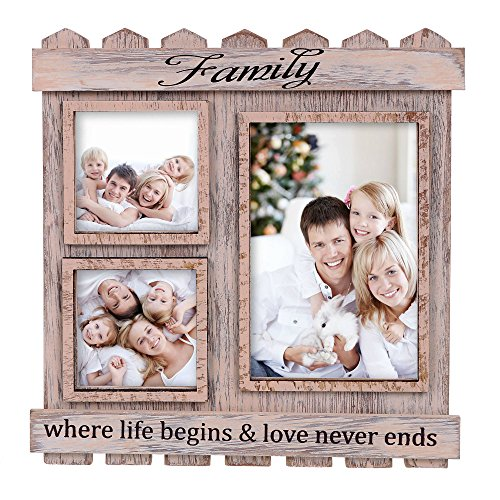 V&M VALERY MADELYN Childrens Day Rustic Family Picture Frame