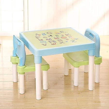 QYHSS Set de Muebles Infantiles, Juego Mesa Niño, Mesa Niña, Mesa ...