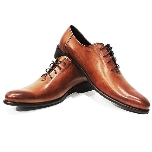 98922f6902a Modello Porto - Cuero Italiano Hecho A Mano Hombre Piel Marrón Zapatos  Vestir Oxfords - Cuero Cuero Pintado a Mano - Encaje  Amazon.es  Zapatos y  ...