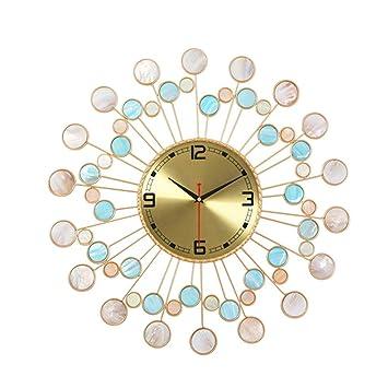 Relojes de pared Cuadros de Pared de Arte del hogar Concha Modernos Relojes Minimalistas Sala de Estar creativos Relojes de Cuarzo Personalidad Elegante ...