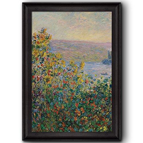 Flower Beds at Vétheuil by Claude Monet Framed Art