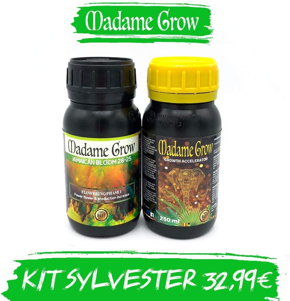 MADAME GROW KIT SYLVESTER DUOPACK - Abonos Orgánicos para Marihuana o Cannabis - Haz que tus plantas obtengan crezcan, luzcan y obtengan los mejores cogollos. AHORRA¡¡