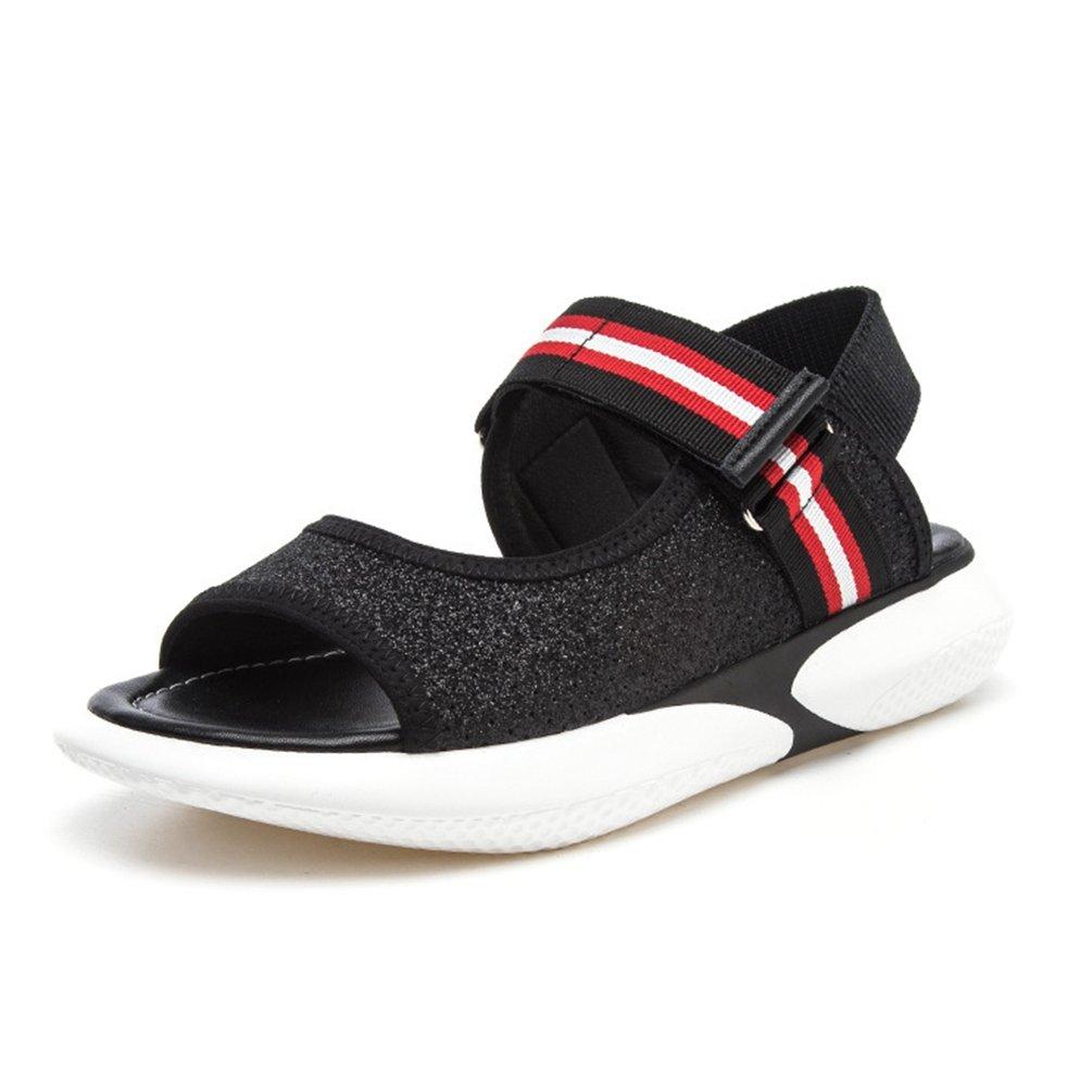JITIAN Sandales Mode Femmes Femmes B001949G88 Plateformes Chaussures Peep-Toe Élastique Casual JITIAN Brillant Plage Tongs Noir 196a0f8 - automatisms.space
