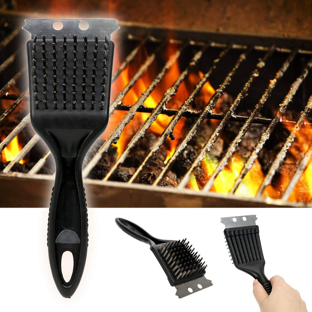 Holdream Barbecue Grill Outdoor Dining Cleaning Brush Wire Bristles Brush