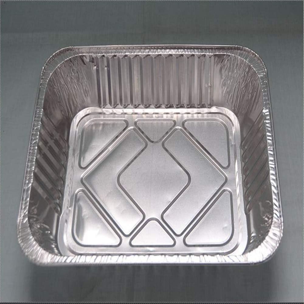 SSCYHT Casseroles en Aluminium avec couvercles pour emporter Contenants en Aluminium pour Aliments de Rechange pour Servir, Cuire, Cuire, rôtir,Without Cover Without Cover
