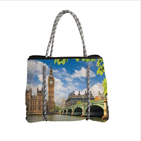 Amazon.com  Neoprene Multipurpose Beach Bag Tote Bags 180bced69c897