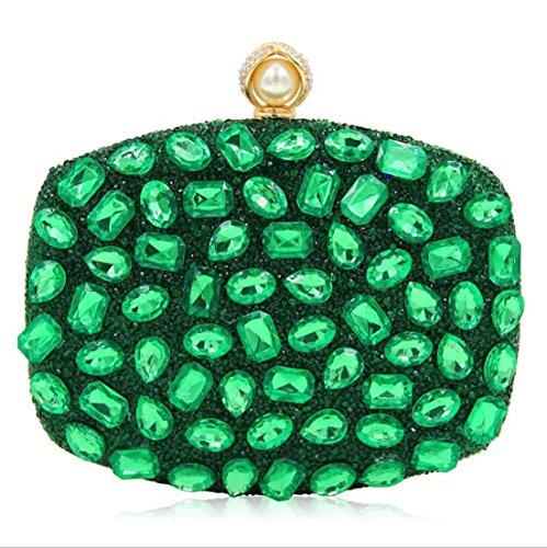 clubs soirée Shimmer de les sacs pour mariage sac à femmes main main partie main pour à de d'embrayage de Green les à Sacs strass sac AwaxHFwq