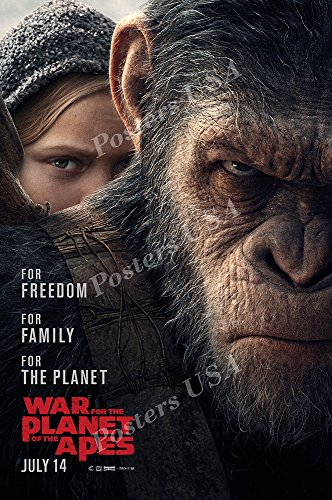 """Posters USA - War for the Planet of the Apes Movie Poster GLOSSY FINISH - FIL190 (24"""" x 36"""" (61cm x 91.5cm))"""