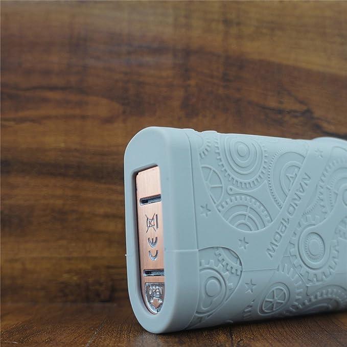 f04098ff4e5 Amazon.com  ModShield for Tesla Steampunk Nano 120W Silicone Case ByJojo  Teslacigs Steam Punk Skin Cover Sleeve Wrap Shield (Grey)  Cell Phones   ...