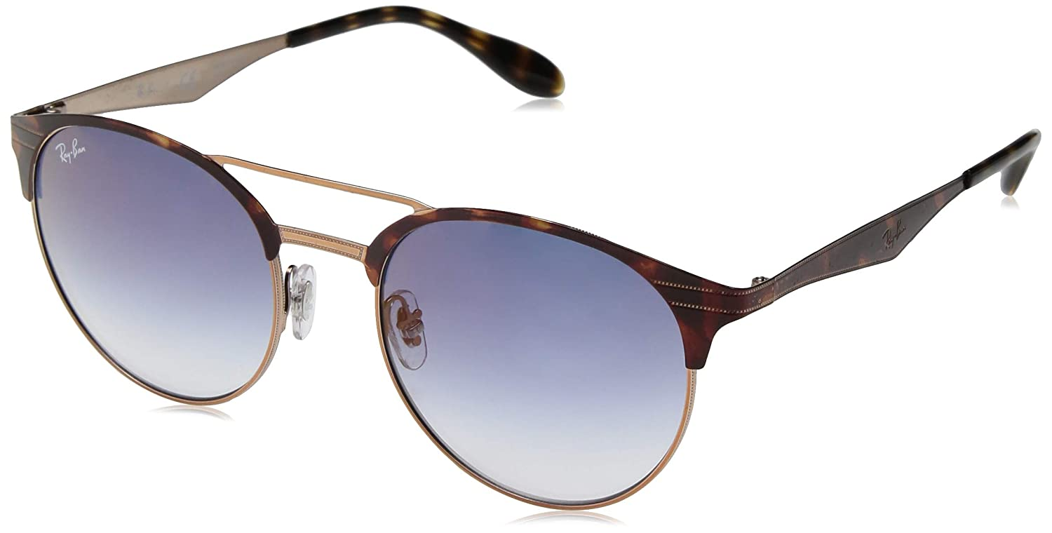 34bb56c199e Amazon.com  Ray-Ban 0rb3545 Round Sunglasses COPPER ON TOP HAVANA 51 mm   Clothing