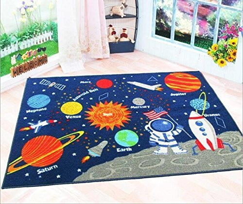 Learning Rug: With MK Kids Rug Educational Learning Carpet Galaxy
