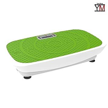Plataforma vibratoria oscilante 3d pantalla mando Fitness 2 motores de 250 W YM (verde)