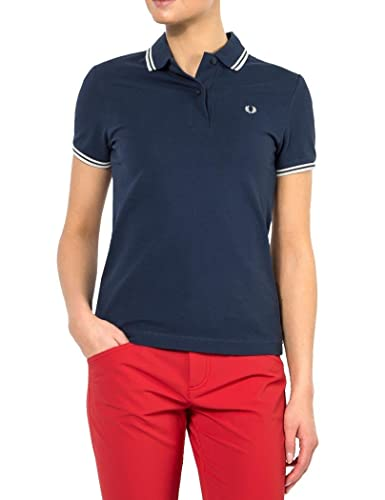 Polo manica corta donna Fred Perry blu navy