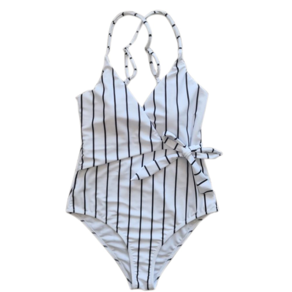 ASOSMOS Fashion Stay Young Stripe One-Piece Swimsuit Beach Swimwear Bathing Suit