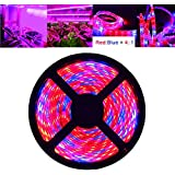 LED Strip Lights, OUEVA 16.4ft/5M Plant Light Strip SMD 5050 Waterproof Grow Light Full Spectrum Rope lights for Aquarium Greenhouse Hydroponic Plant, Garden Flowers Veg Grow Light DC 12V (4:1)