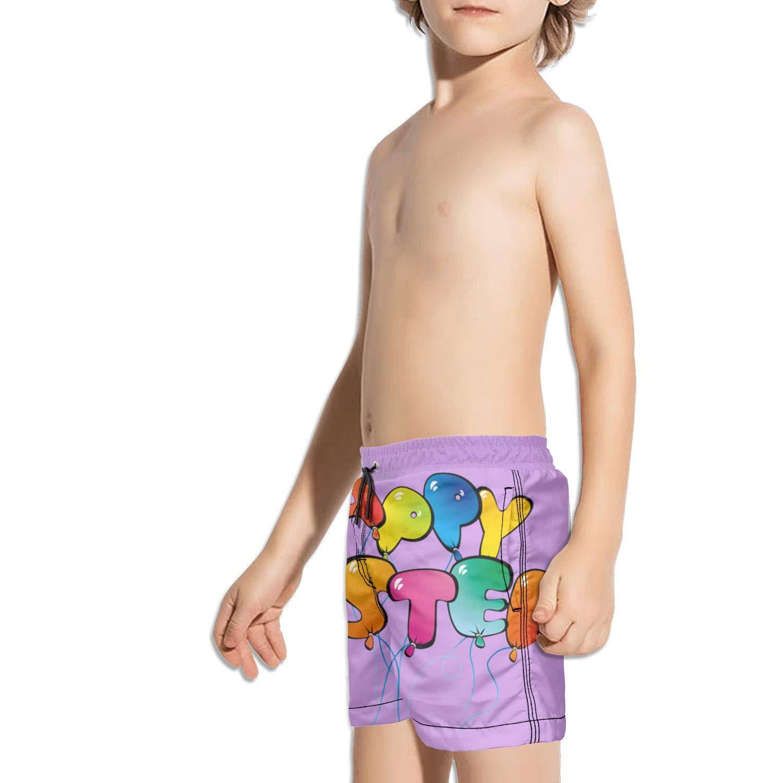 Retro Easter Poster Unisex Kids Swimming Trunks Sporty Swim Shorts for Boys String Beach Shorts for Girls