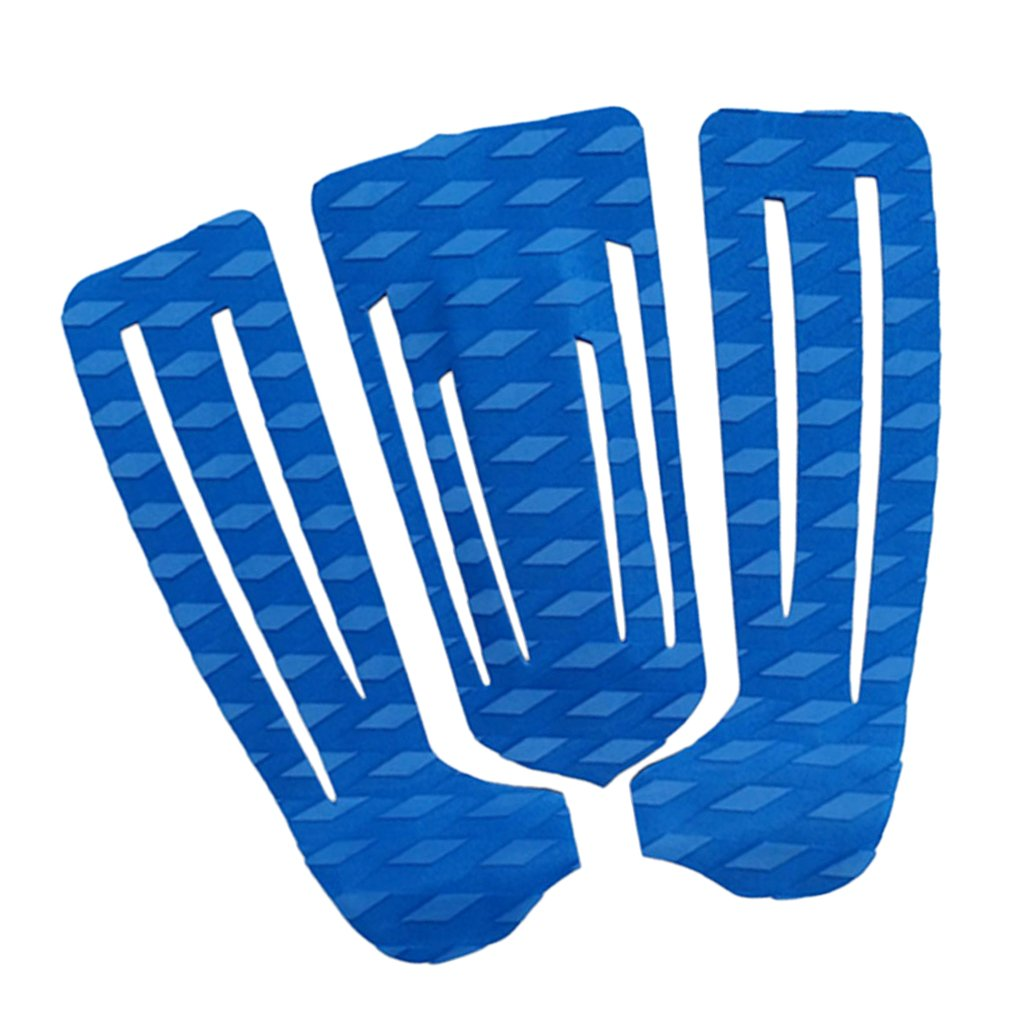 MagiDeal 3 Pezzi di Tavola da Surf Surf SUP Paddleboard Traction Pad Pad Grip Grips - Blu