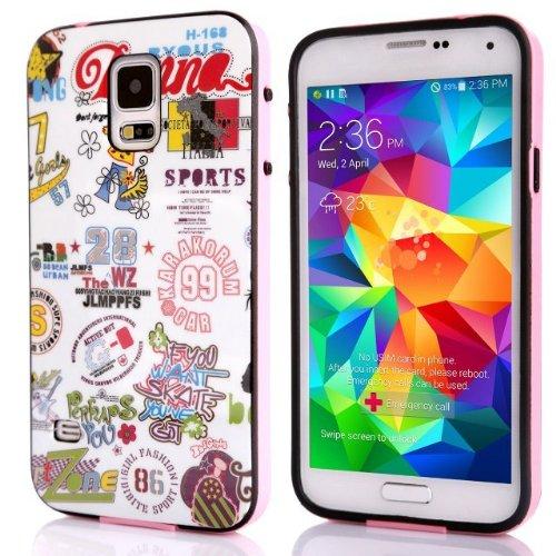 Voguesia Branch Pattern Plastic Hard Cover Camo Triple Hybrid Silicone Case for Samsung Galaxy S5 (SHUZI)