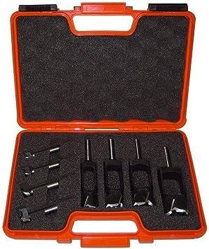 CMT Orange Tools 500.001.08 - Estuche 4 brocas mango cilindrico+4 brocas tapones: Amazon.es: Bricolaje y herramientas