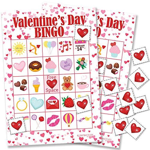 Valentine's Day Kids Bingo Game, 24 -