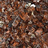 Stanbroil 10-pound 1/4 inch Fire Glass for Fireplace Fire Pit, Copper Reflective Fireglass