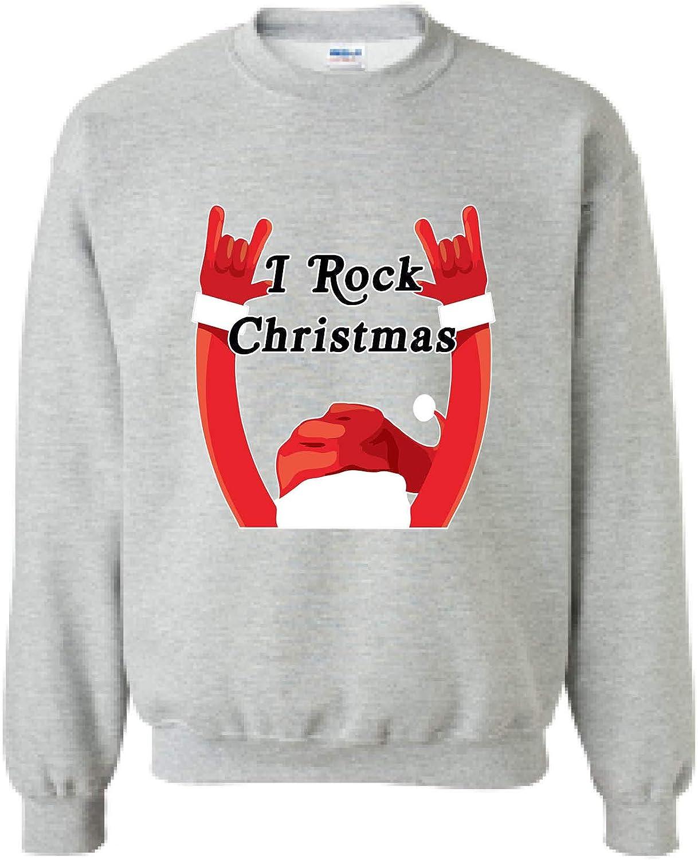 Allntrends Adult Sweatshirt I Rock Christmas Ugly Sweatshirt Funny Xmas Gift