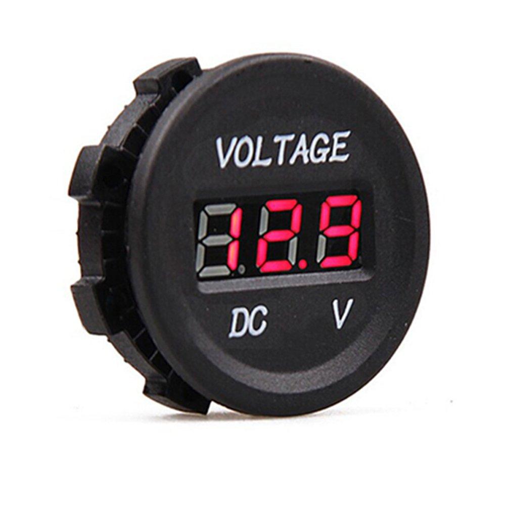 HOTSYSTEM 12V-24V voltmetro digital tester di tensione DC 6-30V Volt imperneabile blu