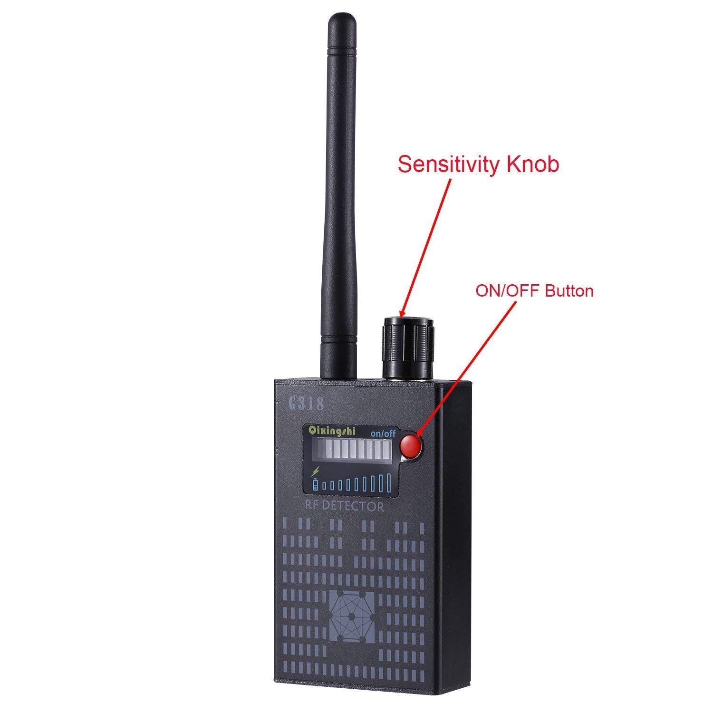 'RF Detector & Camera Finder, Anti Wireless RF Mobile segnale Detector Tracer Finder GPS Tracker Wireless Camera amplificazione Sensitivity GSM Device Finder (2 x 0.8 x 3.3, 4.1oz, Handheld) LemoShop