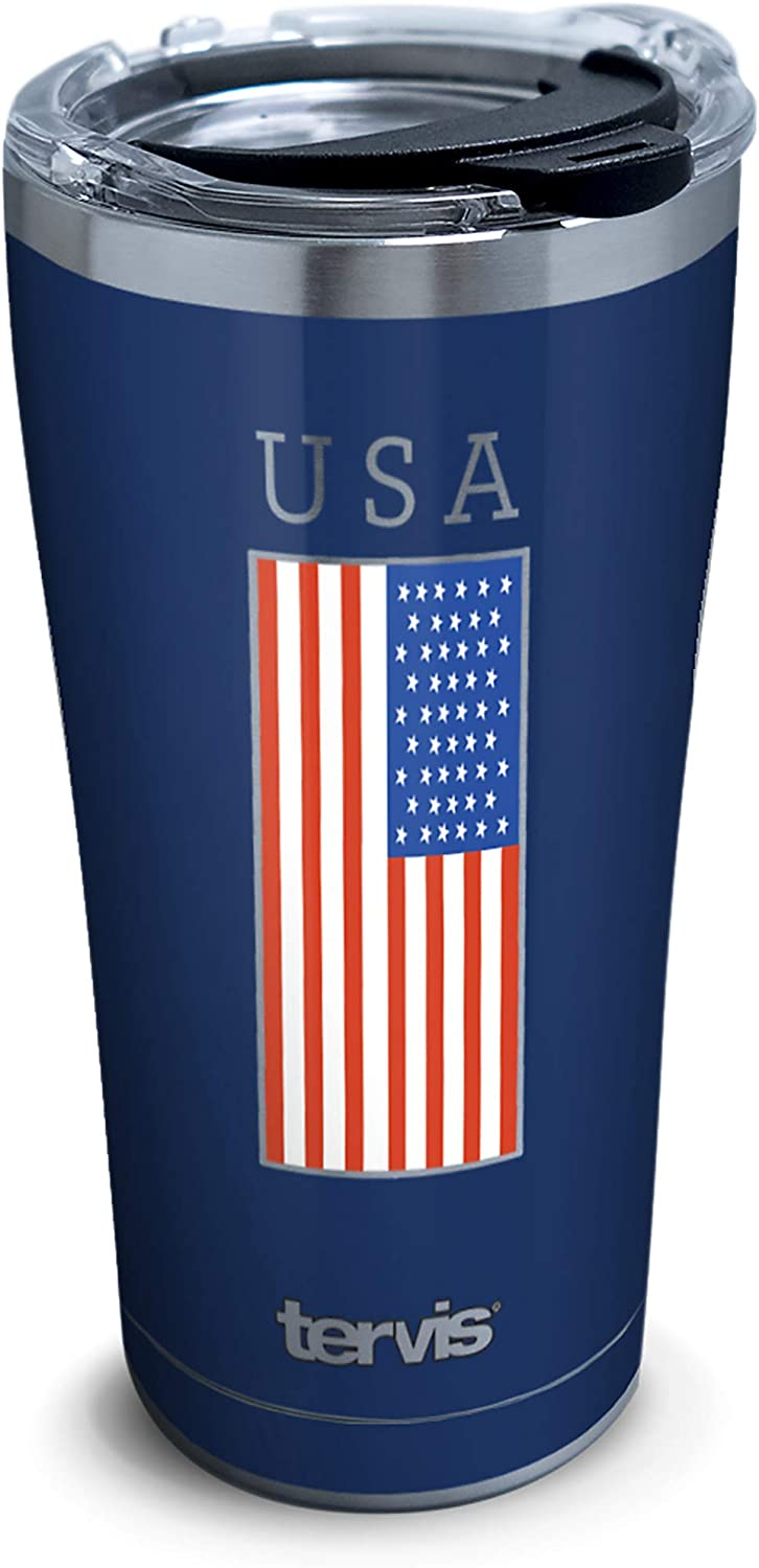 Tervis USA Flag Insulated Tumbler, 20oz, Stainless Steel
