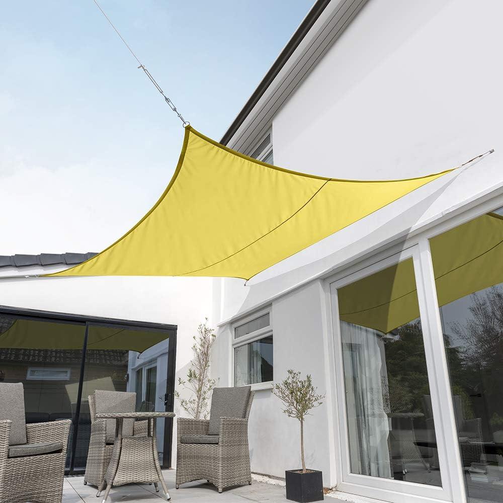 Kookaburra Waterproof Sun Sail Shade Yellow – 11ft 10 Square