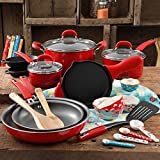 The Pioneer Woman Vintage Speckle 24-Piece Mother's Day Cookware Combo Set (Red)