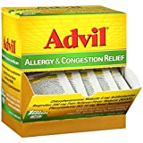 Advil Allergy & Congestion Relief (1 Dispenser of 50 Packets, 2 Count per Packet) Pain Reliever/Fever Reducer