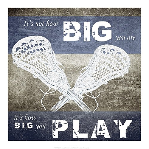 How Big You Play by Sports Mania Art Print, 18 x 18 inches
