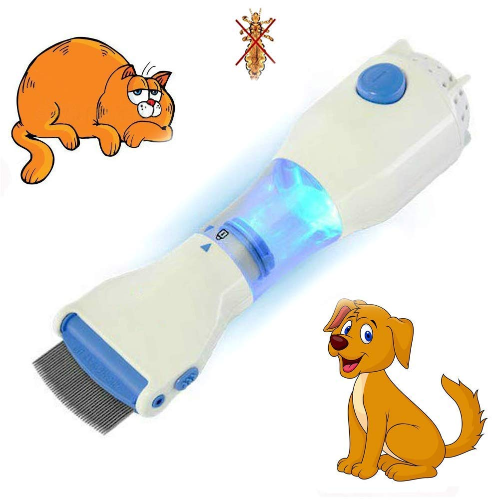 Electric Head Lice Comb and Chemical Free Head Lice Treatment - Pet Dog Cat Flea Capture Comb,Out Performs Other Head Lice Combs and Lice Shampoo - Removes Lice and Eggs