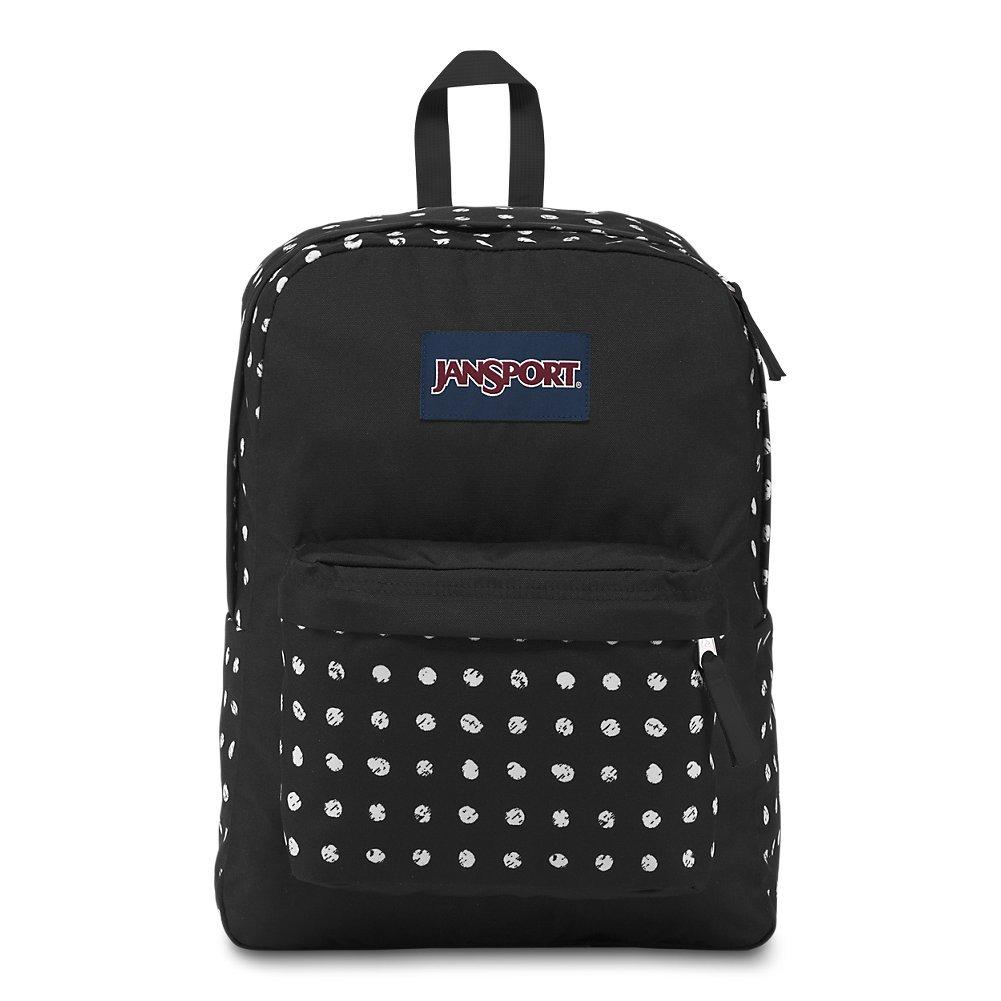 JanSport Superbreak Backpack - Black Sketch Dot - Classic, Ultralight