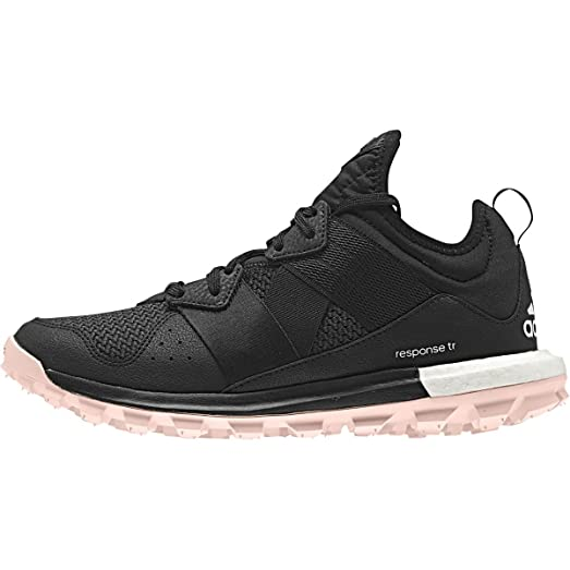 Adidas Outdoor Response Boost Trail Running Shoe - Womens Black/Black/Ray Pink,