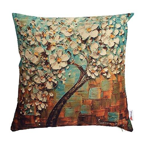 Monkeysell Painting Flower Cushion Decorative