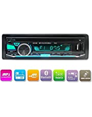 Bluetooth Radio de coche, LUCKYDIY Reproductor de medios digitales, Reproductor de MP3 para coche