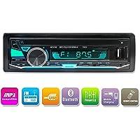 Autoradio Bluetooth, lecteur multimédia numérique LUCKYDIY, Din Single, lecteur MP3 de voiture dans le tableau de bord USB / SD / FM / Récepteur audio Appel mains libres avec télécommande sans fil