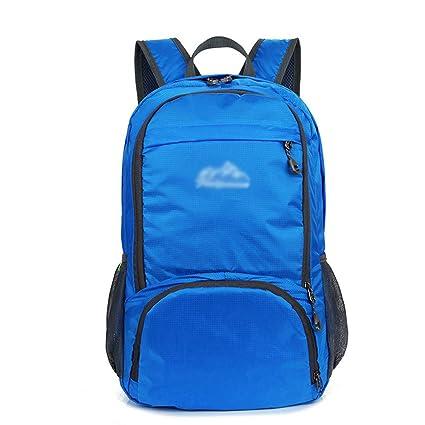 DESESHENME Hombres Mochila Mochila Impermeable diseñador Mochilas Maletas de Nylon Unisex Bolsa de Viaje, Azul
