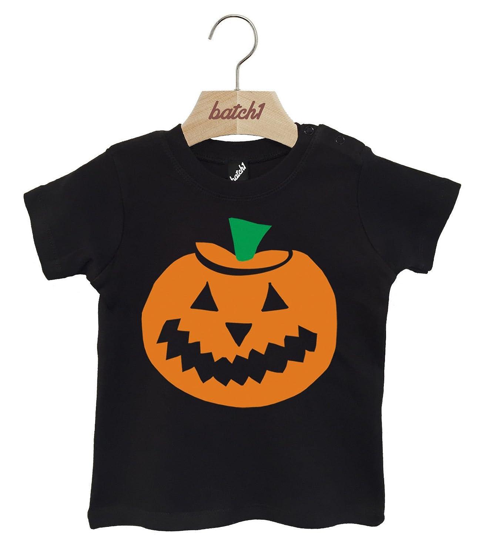 Batch1 Pumpkin Print Fancy Dress Party Halloween Popper Neck Baby T-Shirt